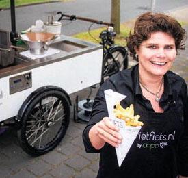 Bron foto: http://lekkertwente.nl/friet-uit-een-fiets/